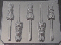 812 Begging Bunny Chocolate or Hard Candy Lollipop Mold