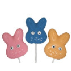 820 Bunny Rabbit Face Chocolate or Hard Candy Lollipop Mold