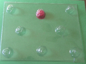 502 Rosebud Fillable Chocolate Candy Mold