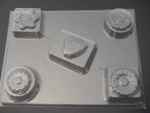 508 Flower Bar Chocolate Candy Mold