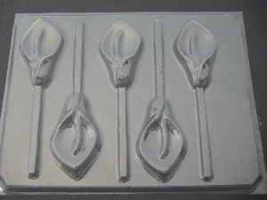 514 Calla Lily Chocolate or Hard Candy Lollipop Mold