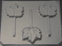 517 Maple Leaf Chocolate or Hard Candy Lollipop Mold