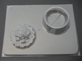 523 Rose Round Pour Box Chocolate Candy Mold