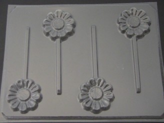525 Daisy Chocolate or Hard Candy Lollipop Mold