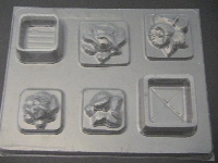 526 Flower Pour Box Chocolate Candy Mold