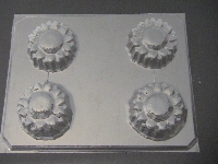 527 Sunflower Chocolate Candy Mold
