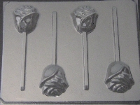 529 Rose Chocolate or Hard Candy Lollipop Mold