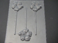 532 Hibiscus Chocolate or Hard Candy Lollipop Mold
