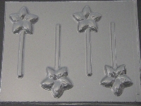 533 Plumeria Chocolate or Hard Candy Lollipop Mold
