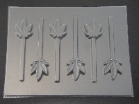 537 Small Pot Leaf Marijuana Chocolate Candy Lollipop Mold