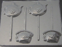 1505 Teapot, Teacup Chocolate or Hard Candy Lollipop Mold