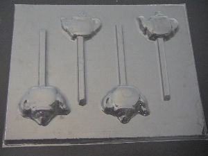 1506 Teapot Chocolate or Hard Candy Lollipop Mold