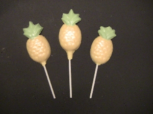 1508 Pineapple Chocolate or Hard Candy Lollipop Mold