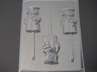 1903 Boy Graduate with Diploma Chocolate or Hard Candy Lollipop Mold