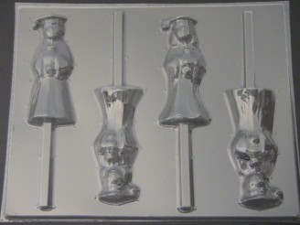 1906 Boy and Girl Graduate Chocolate or Hard Candy Lollipop Mold