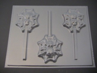 2442 Spider Web Chocolate Candy Lollipop Mold