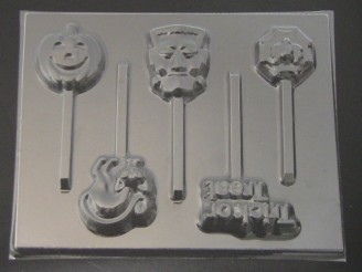 2446 Trick or Treat Chocolate or Hard Candy Lollipop Mold
