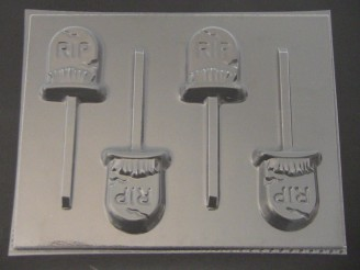 2448 Tombstone Chocolate or Hard Candy Lollipop Mold