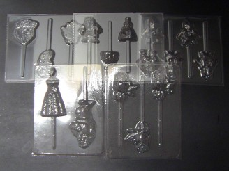 Beauty and Ugly Man Set of 5 Chocolate Candy Molds