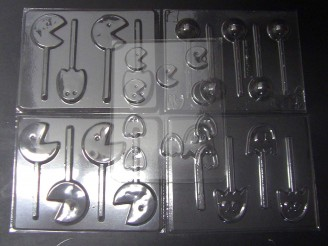 Video Game Man Set of 5 Chocolate Candy Molds