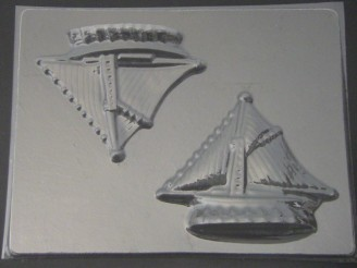 1710 Sailboat 3D Chocolate Candy Mold