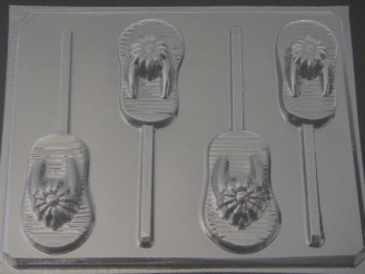 1717 Flip Flops Sandals Chocolate or Hard Candy Lollipop Mold