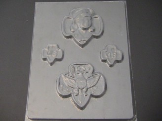 707 Girl Scout Emblems Chocolate Candy Mold