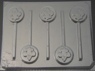 706 Boy Scout Round Chocolate or Hard Candy Lollipop Mold
