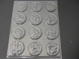 709 Zodiac Rounds Chocolate Candy Mold