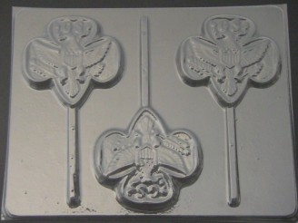710 Girl Scout Emblem Chocolate Candy Lollipop Mold