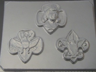 714 Girl Scout Emblems II Chocolate Candy Mold