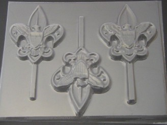 711 Boy Scout Chocolate or Hard Candy Lollipop Mold