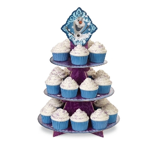 Frozen Princess and Olaf Cupcake Treat Stand Wilton