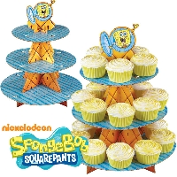 Spongebob Cupcake Treat Stand Wilton