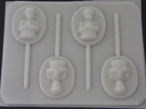 2030 Praying Boy Chocolate or Hard Candy Lollipop Mold