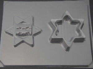 2055 Star of David Pour Box Chocolate Candy Mold
