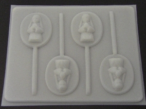 2010 Praying Girl Chocolate or Hard Candy Lollipop Mold