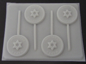 2051 Happy Chanukah Chocolate or Hard Candy Lollipop Mold