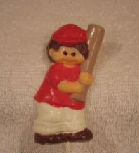 1410 Baseball Boy Slugger Chocolate or Hard Candy Lollipop Mold