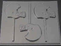1419 Football Helmet Chocolate or Hard Candy Lollipop Mold