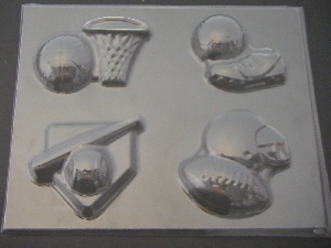 1423 Sports Theme Chocolate Candy Mold