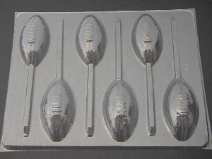 1402 Football Chocolate Candy Lollipop Mold