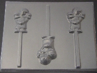 1406 Football Player Chocolate or Hard Candy Lollipop Mold