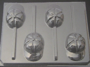 1411 Baseball Cap Chocolate or Hard Candy Lollipop Mold