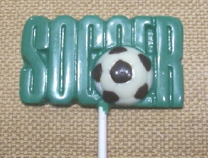 1421 Soccer Chocolate Candy Lollipop Mold