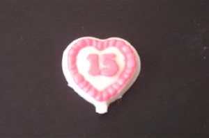 8501 Heart Sweet 15 Chocolate or Hard Candy Lollipop Mold