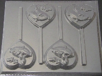 8502 Princess Slipper Shoe Sweet 15 Chocolate Lollipop Mold