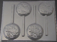8507 Castle Carriage Sweet 15 Chocolate Candy Lollipop Mold