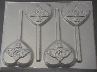 8506 Crown Sweet 15 Chocolate Candy Lollipop Mold