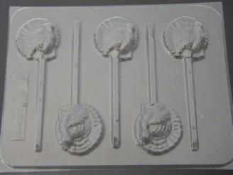 7010 Turkey Small Choocolate Candy Lollipop Mold